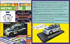 ANEXO DECAL 1/43 MG METRO 6R4 M.WILSON RAC 1986 17th (01)