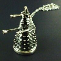 Dr Doctor Who Dalek Pendant with Chain Matt Smith David Tennant Capaldi Necklace