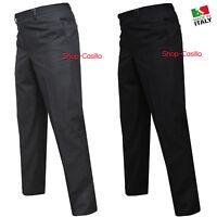 Pantalone Uomo Classico Tasca America Vita Alta 48 50 52 54 56 58 60 62 Estivo