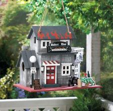 "New listing Biker Bar Birdhouse - 9"" High - Wood - Multi Color"
