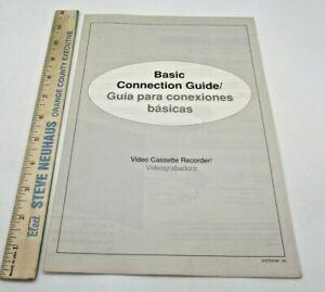 VCR Video Cassette Recorder Basic Connection Guide Manual Vintage