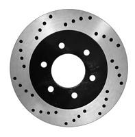 [Front Drill Brake Rotors Ceramic Pad] Fit 99-04 Chevrolet Silverado 1500 6 Lug