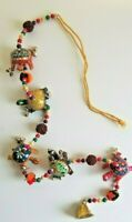 """Turtle Wall, Door, Window Hanging Wind Chime Accent Approx. 28"""" in Beaded Length"""
