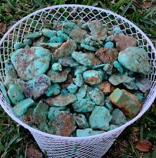 1/4 Pound Kingman Arizona Turquoise Natural Rough Gem Lot Cutting Lapidary 11