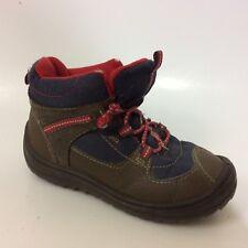 OshKosh B'gosh IRVIN Boys 10 Toddler Boots Snow Hiking Brown Navy Blue Lace Up