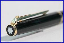 1985 MONTBLANC # 281 BLACK & GOLD / BALL POINT PEN w. lever mechanism