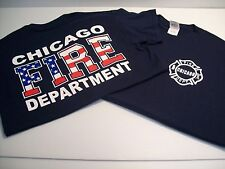 Chicago Fire Department American Flag T-Shirt
