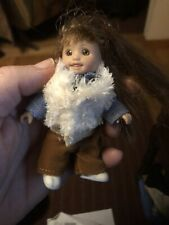 Only Hearts Club Tiny Girl Doll Caucasian w Brown Hair & Eyes Clothing 3 1/2""