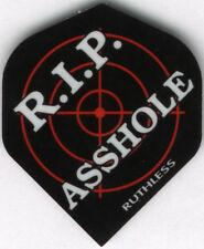 """""""R.I.P ASS****"""" RUTHLESS Dart Flights: 3 per set"""