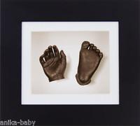 Nuevo Bebé Unisex Único Set regalo 3d SET para moldear bronce mano y pie negra