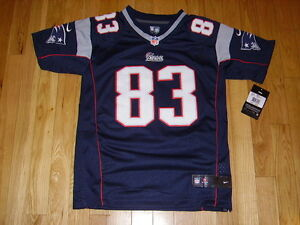 NEW NIKE WES WELKER BLUE NEW ENGLAND PATRIOTS YOUTH NFL SEWN REPLICA JERSEY MED