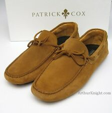 NEW Patrick Cox Brown Tobacco Suede Mens Driving Shoe 10 Designer Tan Moccasins