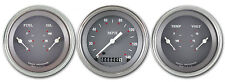 "classic instruments sg series 3 3/8"" speedo+dual sg04slf 3 gauge set flat glass"