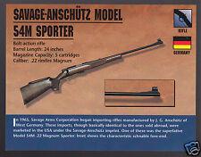 SAVAGE-ANSCHUTZ MODEL 54M SPORTER .22 Rifle Gun Classic Firearms PHOTO CARD