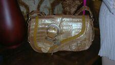 NWT$16000  Christian Dior hand bag CROCODILE BEIGE/FON