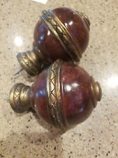 CHRIS MADDEN JCP Home Collection Two Wood & Metal Stud Ball Finials (2 total)