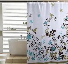 Extra Long Wide Extra Drop Waterproof Bathroom Shower Curtain With Hooks GR