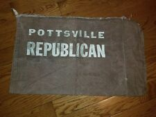 Vintage Pottsville PA  Republican Newspaper Carrier Canvas Bag