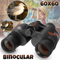 Day/Night 60x60 Army Zoom Ultra HD Binoculars Optics Hunting Camping W/ Bag New