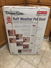 RUFF Weather PET DOOR W/Telescoping Frame SUPER LARGE Flap Size For Dogs & Cats
