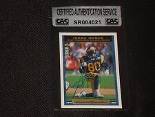 ISAAC BRUCE 1995 UD COLLECTORS CHOICE SIGNED AUTOGRAPHED CARD RAMS CAS AUTHENTIC