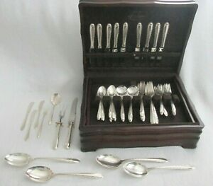 """61 Pieces Towle Sterling """"Silver Flutes"""" Service Set- Place Settings + Serving"""