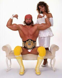 MISS ELIZABETH and MACHO MAN RANDY SAVAGE 8x10 Vintage WWE WWF Wrestling Photo