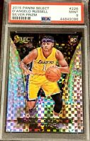 D'Angelo Russell 2015-16 Select Silver Prizm Courtside SSP PSA 9 RC 226 LOW POP!