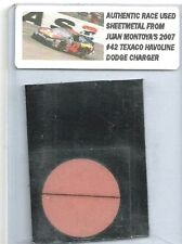 JUAN PABLO MONTOYA NASCAR RACE USED SHEET METAL CAR PIECE 2007 JPM 2