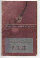 1949 Packard Custom / Super Eight / Eight Original automobile Owner's Manual