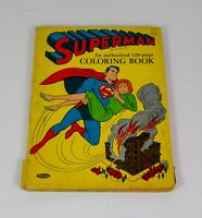 VINTAGE 1964 Whitman DC Superman Coloring Book 128 Pages Superhero CS