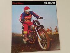 1975 Honda CR125 M1 ELSINORE Motorcycle Sales Brochure - Literature