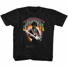 Jimi Hendrix Youth Boys Kids Short Sleeve T-Shirt Black Jimi Hendrix Graphic Tee