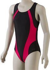 Etirel Kinder Mädchen Badeanzug Mel jr für Mädchen Schwimmanzug 116 schwarz rot