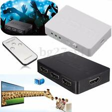 3 Port 1080P 3D HDMI Splitter Switch Switcher Hub for PS3 PS4 TV PC XBOX Remote