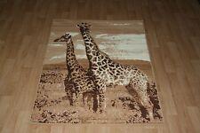 Quality Large Giraffe Print Rug 120cm x 170cm Giraffe Jungle Safari Animal Print