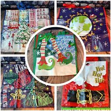 TJ Maxx Home Goods 13 Reusable Christmas Shopping Bag Tote LOT 5 LARGE 8 SMALL