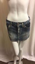 Women's Blue Wash Denim  Jean Short Mini Skirt  Size UK 8