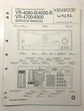 KENWOOD VR-4080B/4090B VR-4700/4900 A V SURROUND RECEIVER SERVICE REPAIR MANUAL