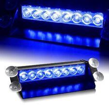 Blue 8-LED Car Dash Strobe Flashing Light  Emergency Warning Police Safety