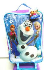 "Disney FROZEN ANNA ELSA OLAF 20"" SUITCASE ROLLER BAG Kids Travel Luggage Wheels"