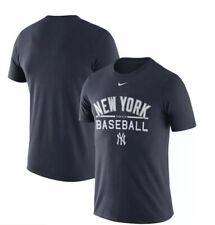 New York Yankees Nike MLB Performance Practice T-Shirt Navy Blue Size M