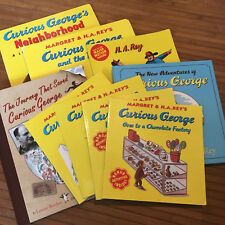 CURIOUS GEORGE COLLECTOR SET RARE LOT Books gift Holiday Christmas Kids Rey