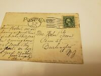1912 - 1922 GREEN George Washington RARE One 1 Cent Stamp U.S. Post Card new Yor