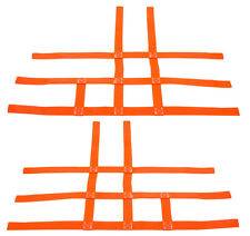 Raptor 700 660 Nerf Bar Nets  Fits Alba Tusk  with heel guards Orange J