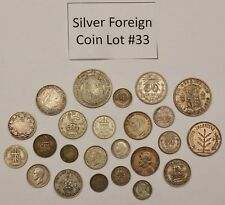 Foreign Silver Coin Lot: Collection of Old World Silver Coins #33