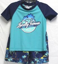 *NEW* Tommy Bahama Kids Boy's 2 Piece Rash Guard Shorts Swim Set