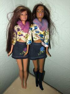 Barbie Really Rosy Christie & Kayla Doll Lot Vtg