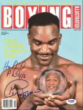 George Foreman & Holyfield Authentic Autographed Magazine Cover PSA Q89205