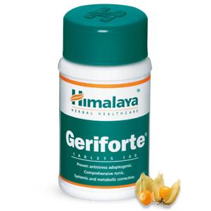 Himalaya GERIFORTE 100 Tablets Antistress with antioxidants FREE SHIP